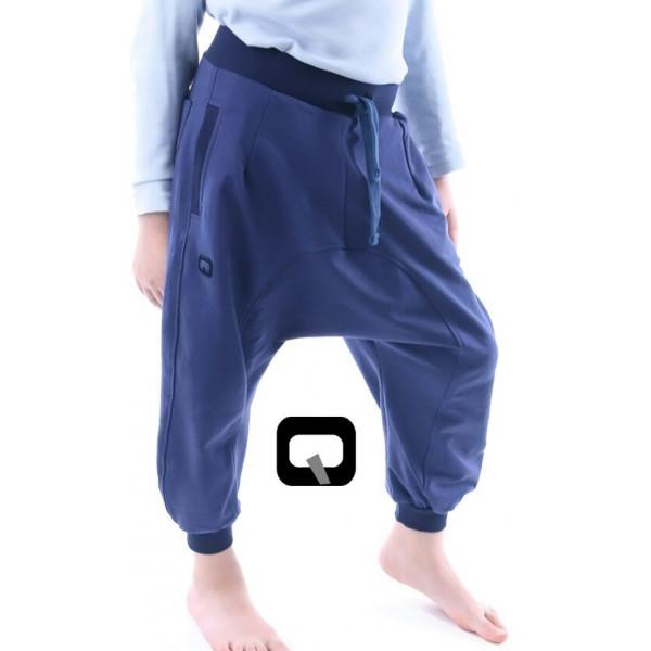 Sarouel enfant Qaba\u0027il bleu indigo