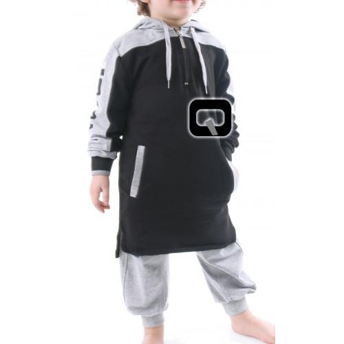 Qamis enfant Qaba'il noir