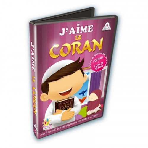 J'aime Le Coran - Cd Audio + Livre de 52 pages - Edition Athariya Jeunesse