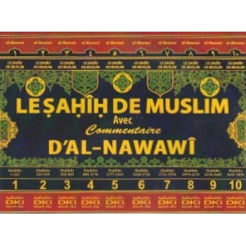 Sahih Muslim 10 Tomes avec Commentaire de L'Imam Nawawi - Edition Dar Al Kotob Al Ilmiyah