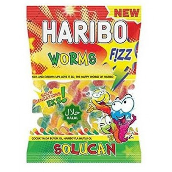 WORMS FIZZ HARIBO HALAL 100G
