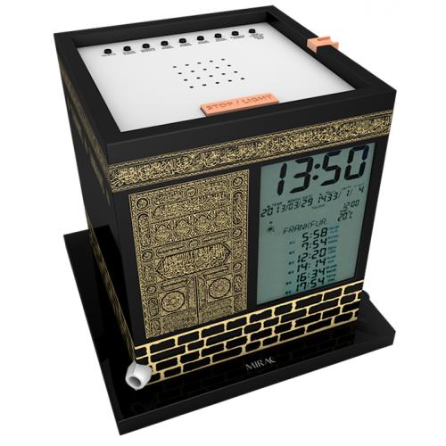 Kaaba - Horloge avec Azan et Horaires Prière + Récitation du Coran - 2000 Villes et 8 Adhân Différents