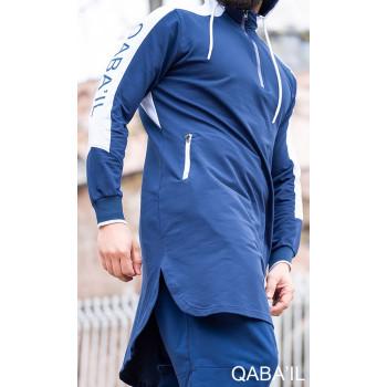 Qamis jogging court Qaba'il Bleu Indigo