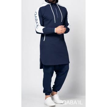 Qamis jogging court Qaba'il Bleu Nuit