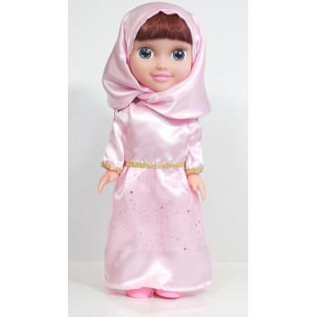 Poupée Musulmane Métisse - Chifa Parlante - Robe Rose - 3ans+