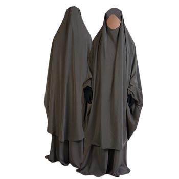 Jilbab al Manassik Taupe 2P cape+ jupe N15