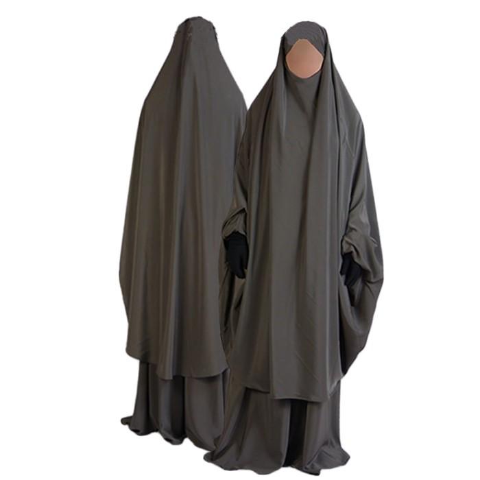2p Muslim Taupe N15 Al Jilbab Avenue Manassik CapeJupe Du mnO80wvyNP