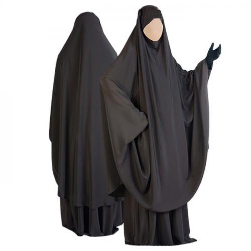 Jilbab al Manassik Marron 2P cape+ jupe