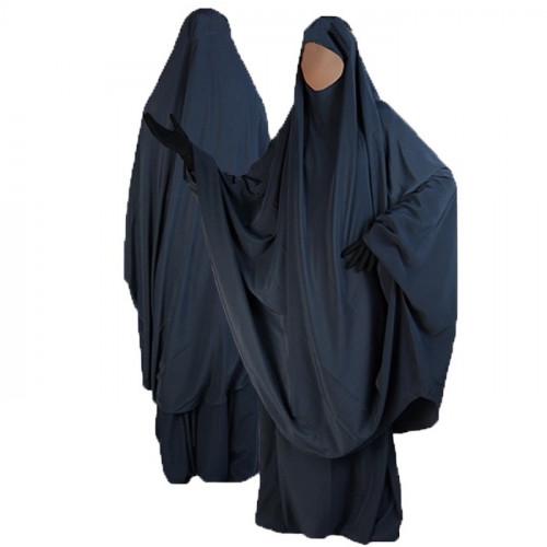 Jilbab al Manassik Bleu Nuit 2P cape+ jupe N23