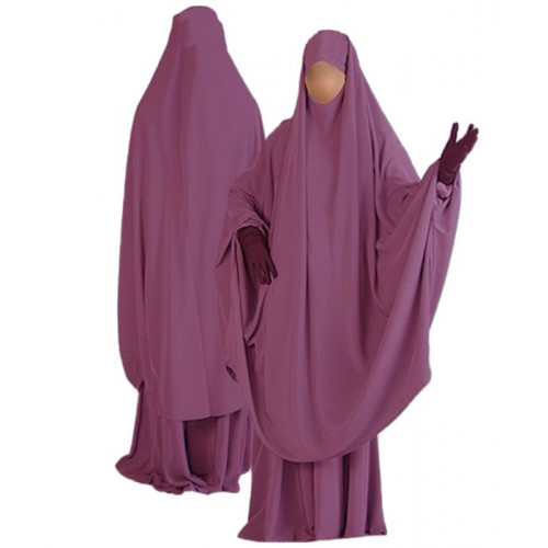 Jilbab al Manassik noir jupe