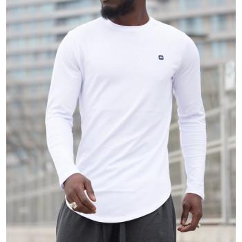 Sweat-Shirt Léger Blanc Manches Longues Qaba'il
