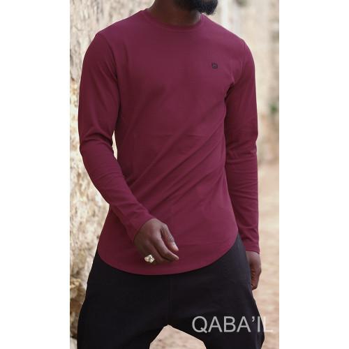 Sweat-Shirt Léger Bordeaux Manches Longues Qaba'il