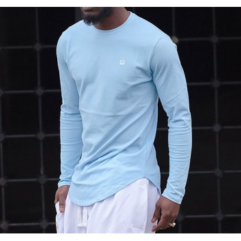 Sweat-Shirt Léger Bleu Ciel Manches Longues Qaba'il
