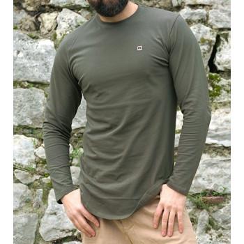 Sweat-Shirt Léger Kaki Manches Longues Qaba'il