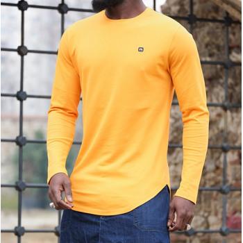Sweat-Shirt Léger Jaune Moutarde Manches Longues Qaba'il