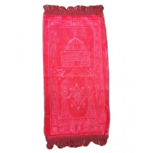 Rose - Tapis de Prière avec Motif Masjid- Enfant - 34 x 72 cm