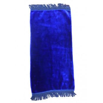 Bleu Foncé - Tapis de Prière Uni - Enfant - 34 x 72 cm