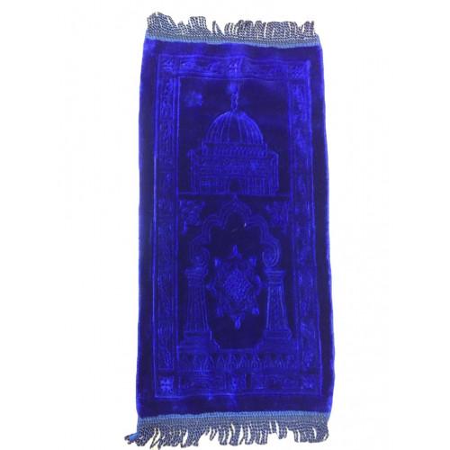 Bleu Foncé - Tapis de Prière avec Motif - Enfant - 34 x 72 cm