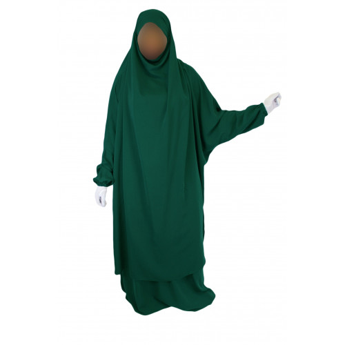 Jilbab 2P Jupe - Vert Menthe 32 - Koshibo - Jilbeb El Bassira - 4305-B