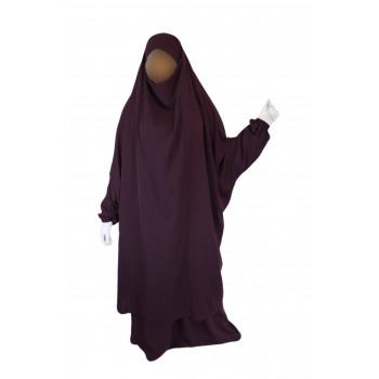 Jilbab 2P Jupe - Aubergine 109 - Wool Peach - Jilbeb El Bassira - 3858-B