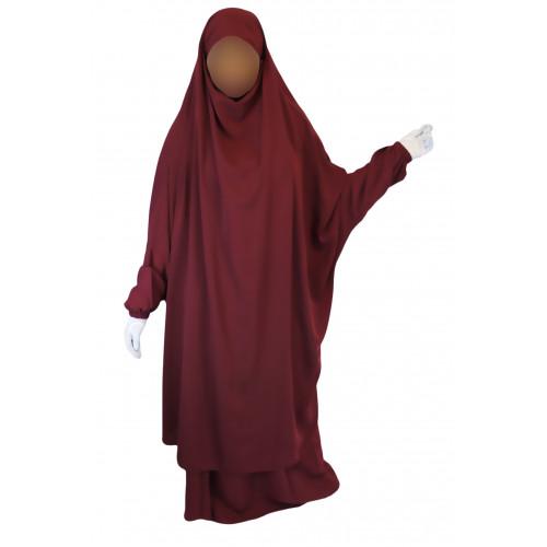 Jilbab 2P Jupe - Bordeaux 162 - Wool Peach - Jilbeb El Bassira - 3859-B