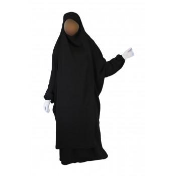 Jilbab 2P Jupe - Noir 1 - Wool Peach - Jilbeb El Bassira - 3860-B