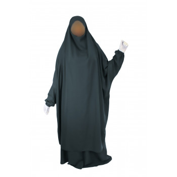 Jilbab 2P Jupe - Gris Vert 30 - Wool Peach - Jilbeb El Bassira - 6741-B