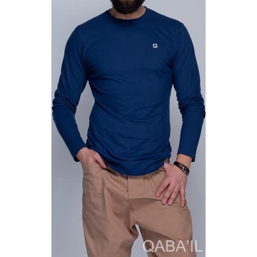 Sweat-Shirt Léger Indigo Manches Longues Qaba'il