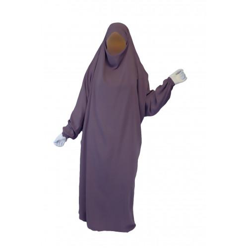 Jilbab 1P - Lila Foncé 14 - Wool Peach - Jilbeb El Bassira - 3848-B