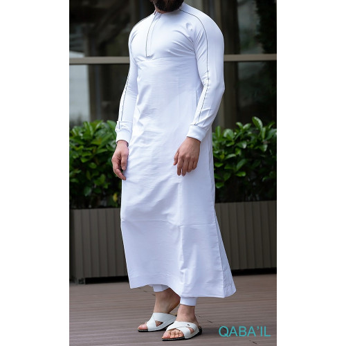 Qamis Long QANTIK - Blanc - Qaba'il