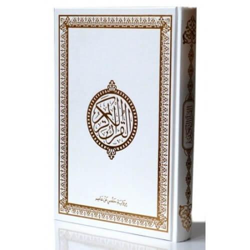 Le Saint Coran Arabe - Blanc et Doré - Grand Format - 17.50 X 24.50 cm - 6840