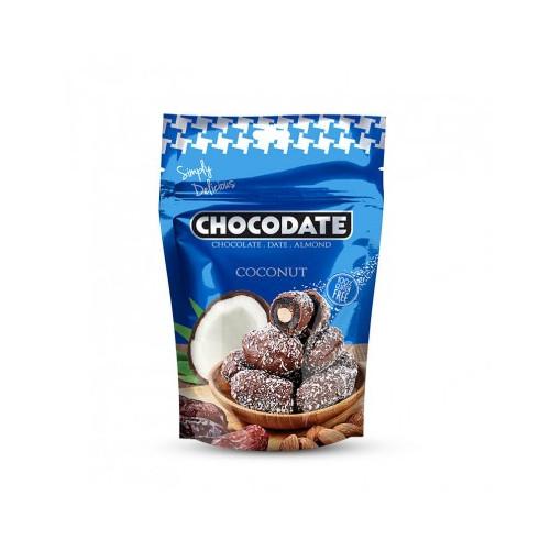Datte Enrobé de Chocolat avec une Amande - Coconut - Chocodate - 100gr