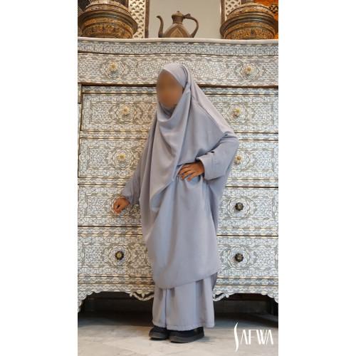 Jilbab Enfant - Gris Clair - Safwa