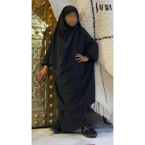 Jilbab Enfant - Noir - Safwa