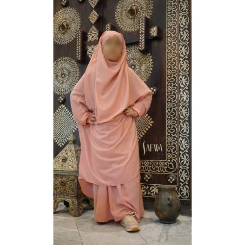 Jilbab Enfant - Rose Corail - Safwa
