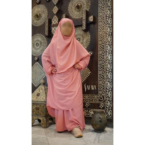 Jilbab Enfant - Rose Clair - Safwa