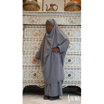 Jilbeb fille gris anthracite