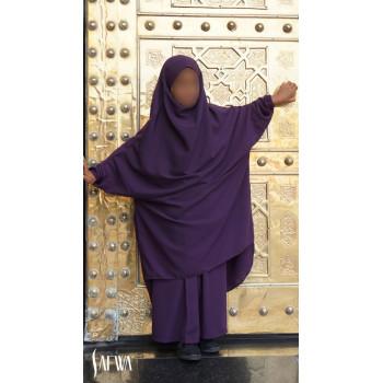 Jilbab Enfant - Aubergine - Safwa