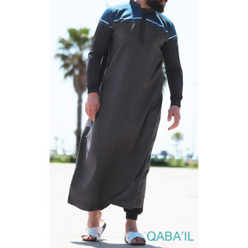 Qamis Qaba'il Classique noir/blanc