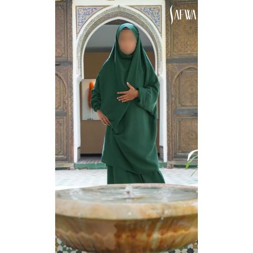 Jilbab Enfant - Vert Sapin - Safwa