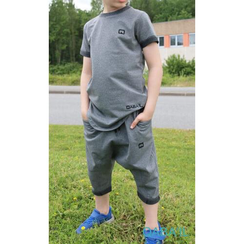 Ensemble Nautik Kid - Anthracite - Sarouel + T-Shirt de 3 à 16 ans - Qaba'il