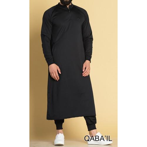 Qamis Long Longline - Noir - Qaba'il