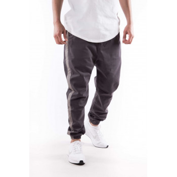 Saroual D3 - Chino Stripe - Anthracite et Bande Grise - Timssan