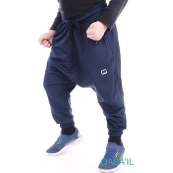 Serwal Jogging Léger Enfant - Bleu Nuit - Junior - 3 à 16 ans - Qaba'il