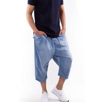 Saroual DB1 Short Jeans - Coupe Djazairi - BLEU BLEACH - Timssan