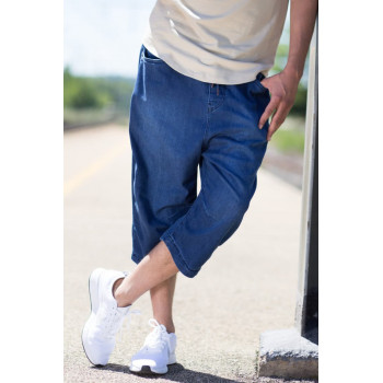 Saroual DB1 Short Jeans - Coupe Djazairi - BLEU STONE - Timssan