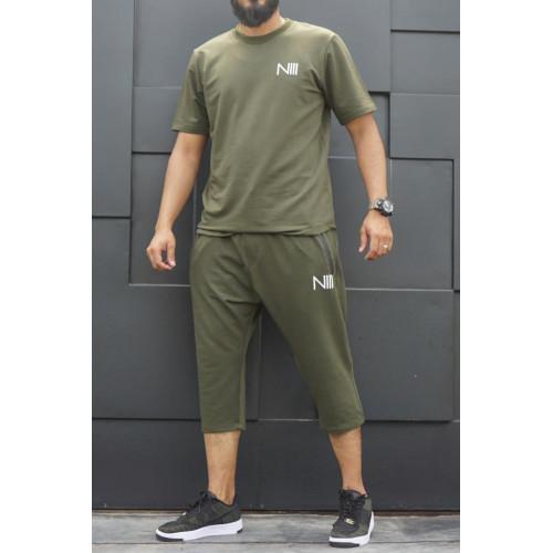 Ensemble Hybrid Lycra - Vert - T-Shirt Oversize - Saroual Djazairi - Na3im
