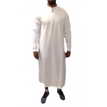 Qamis Long Longline - Blanc - Qaba'il