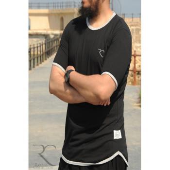 T-Shirt Oversize 100% coton - Noir - Rayane