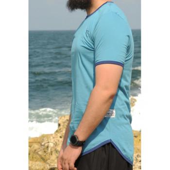 T-Shirt Oversize 100% coton - Vert Bleu - Rayane